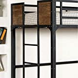 247SHOPATHOME Loft bunk bed, Twin, Black