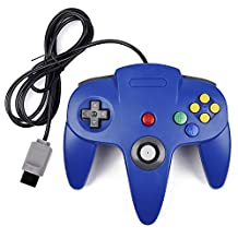 kiwitata Classic Retro Wired Game Controller Gamepad Joystick for N64 Console Nintendo 64 System Blue