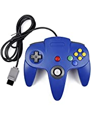 Classic N64 Controller, kiwitatá Retro Wired Game Controller Gamepad Joystick for N64 Console Video Games System Blue