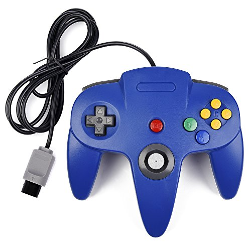 N64 Controller, iNNEXT Classic Wired N64 64-bit Gamepad Joystick for Ultra 64 Video Game Console (Blue)