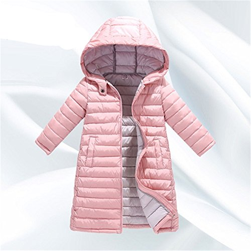 Jacket Newmarket (Child Girl Jackets Girls Children Coat Kid Hooded Thin Cotton-Padded Jacket Parka Long Pink 6)