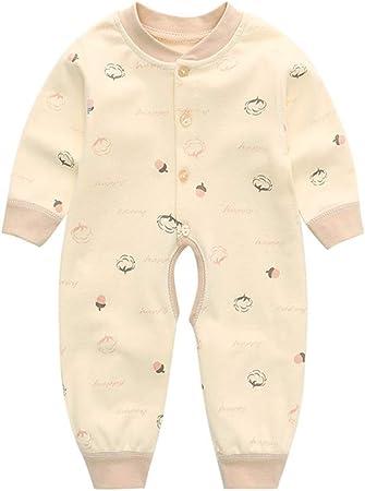 HJJGRASS Pijama Bebe, Bebés Siameses Ropa de Algodón 100%, del Recién Nacido Resorte de Los