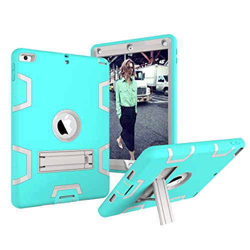 New iPad 2017 9.7 Case, Fisel Three Layer PC & Silicon High Impact Hybrid Drop Proof Armour Defensive Full Body Protective Case With Kickstand for All-New iPad 9.7 Inch 2017 Model Tablet (Armour Otterbox Skin)