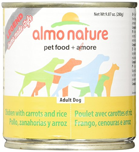 - Almo 9.87 oz Legend Chicken & Rice Canned Dog Food (12 Case), Medium
