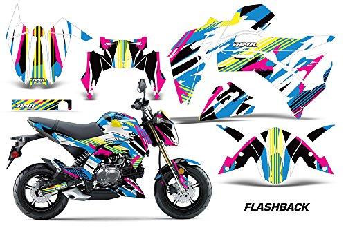 Mx Sticker Kits - Kawasaki Z125 PRO 2017 MX Dirt Bike Graphic Kit Sticker Decals Z 125 FLASHBACK