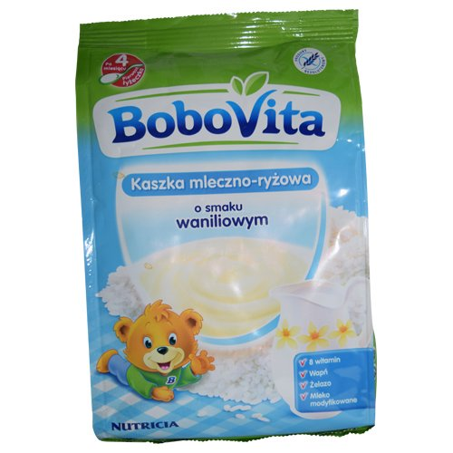 Bobovita Milk and Rice Gruel Vanilla for Babies (230g/8.1oz)
