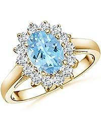 Angara Hexagon-Shaped Brown Diamond Cluster Ring with Milgrain FAr4odE