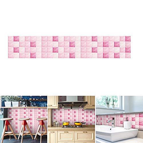 Aolvo Backsplash Wallpaper 196.87.8 Inch, Mosaic Contact Paper Decorative Self Adhesive Waterproof/Oil-proof Tile Sticker DIY Creative ()