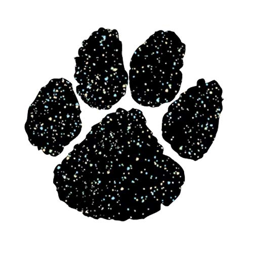Black Glitter Paw Temporary Tattoos, 100 Pack Spirit Stickers by TCDesignerProducts