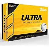 Wilson Ultra Ultimate Distance Golf Balls - Pack of 15