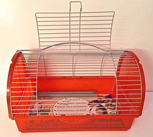 LARGE-ORANGE-TRAVEL-CAGE-FOR-SMALL-ANIMALSSMALL-BIRDS12-X7-X7