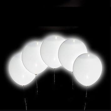 Navidades Cereminias Eventos BESTZY Globos de luz LED Blancos 30Pcs Globos LED para Fiesta Boda Cumplea/ños Globos luz Luminosas de l/átex