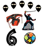 Mayflower Products Ninja 6th Birthday Party Supplies and Balloon Decorations