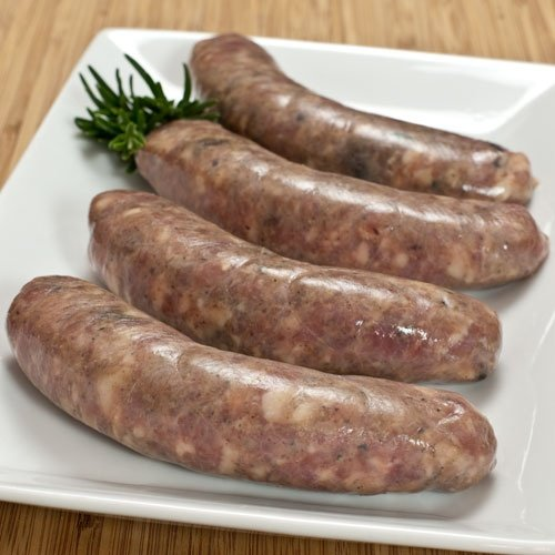 All Natural Duck Sausages with Figs 4 links 1 lb