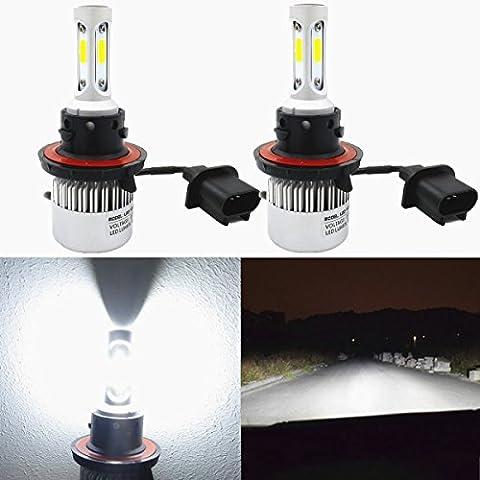 Alla Lighting 8000lm Xtremely Super Bright 6500K Xenon White High Power Mini H13 9008 H13LL LED Headlight Bulbs Conversion Kits Lamps (08 Dodge Ram 1500 Headlights)
