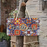 WELLDAY Hanging Plaque Welcome Sign Mexican