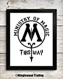 Ministry of Magic This Way 8x10 Art Print - Bathroom Decor