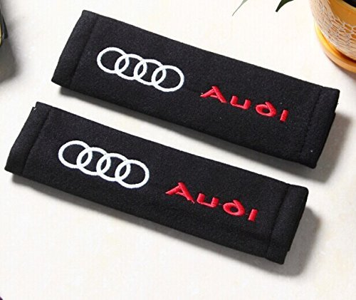 D/&R Set of 2 Seat Belt Covers Shoulder Pads For Audi by Dr Dry