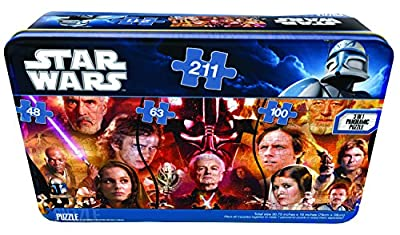 Star Wars Panorama Puzzle Tin Size 30.75 inches X 15 inches ( 78cm X 38cm )-Styles may vary