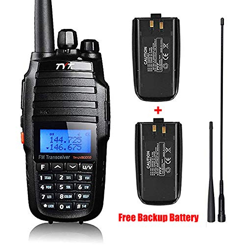 - TYT TH-UV8000D High Power 10-Watt Dual Band 2M/70CM Two Way Radio Cross-Band Repeater Amateur Hand held Transceiver HAM, with Free Backup Battery