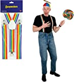 Rainbow Adjustable Suspenders - One Size Fits Most [12 Pieces] - Product Description - This Rainbow Suspender Can Be Adjusted As Per Your Comfort. It Is A One Size Fits Most. 1 Per Packaged All Sales Final, No Returns ...