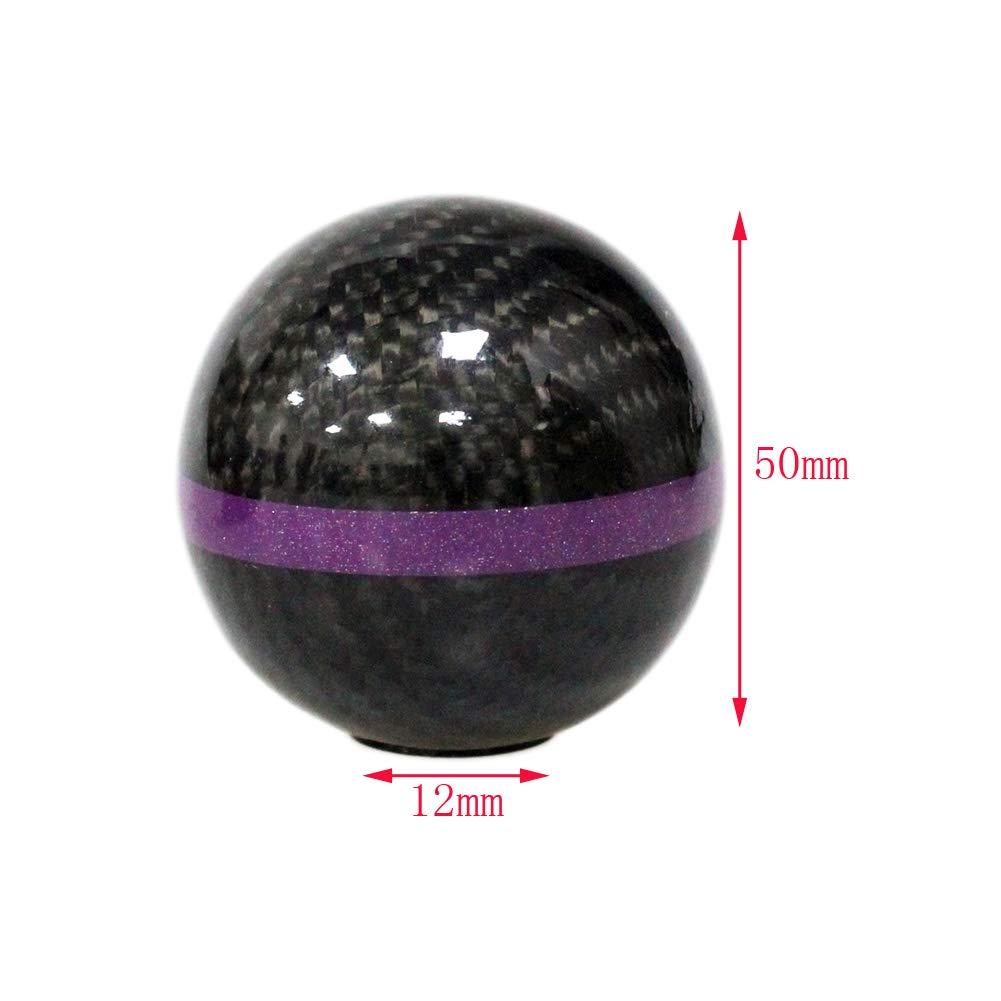 12 mm accessorio universale per auto 1 pezzo 3 adattatori Jinglingkj Pomello del cambio in fibra di carbonio e plastica MT AT