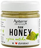 Matcha Honey - Raw Honey with Matcha Organic Green Tea Powder - 32 Ounce, 4 Count