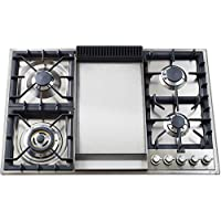 36 Gas Cooktop with 4 Burners