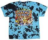 90s merchandise - Looney Tunes Men's Hip Hop Characters Bleached T-Shirt (Large)