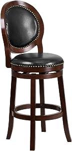 "Flash Furniture 30"" Cappuccino Wood Stool"