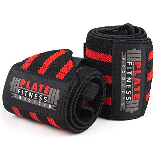 Plate Fitness Products Wrist Wraps (Premium Quality,18