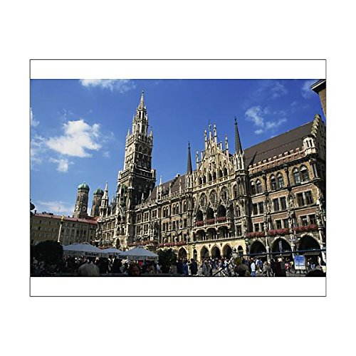 Print of New City Hall, Marienplatz, Munich, Bavaria, Germany, Europe (3656926) (Bavaria Square Print)
