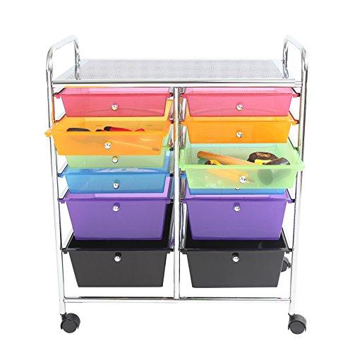 Portable Storage Carts : Finnhomy drawer plastic portable mobile organizer