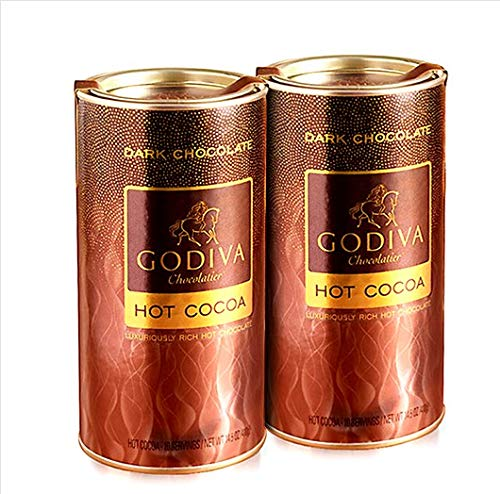 - Godiva Dark Chocolate Hot Cocoa Can, 14.5-Ounces, 2 pack