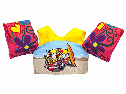Body Glove 13226-ONE-SRFVAN Kids Paddle Pal Surfer Van Learn to Swim Life Jacket
