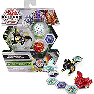 Bakugan Starter Pack 3-Pack, Fused Hydorous x Thryno Ultra, Armored Alliance Collectible Action Figures