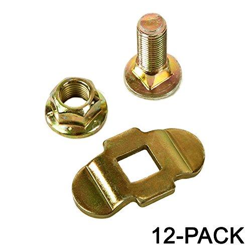 Aluminum Load Track Mounting Kit w/ Stud Nut, Tiedown 12-Pack -