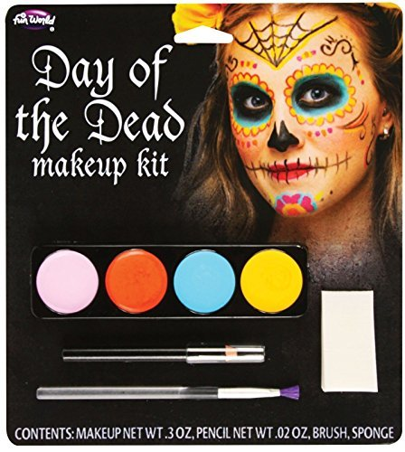Day Of The Dead Female Makeup Kit (colors may vary) by Fun World (Day Of The Dead Female Makeup Kit)