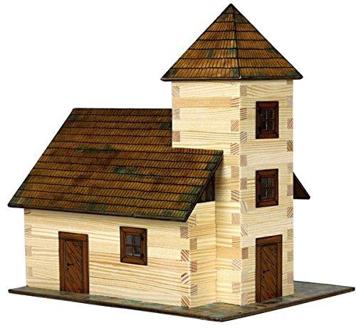 Walachia 8594036430129No 12Gauge Model Railway 1/LGB Church Wood Model Kit 1: 32