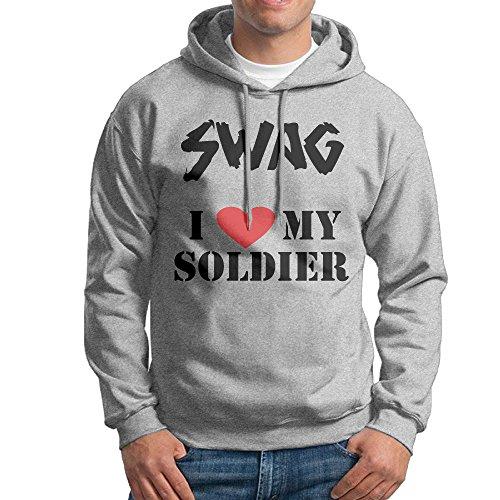MARC Men's I Love My Soldier Sweatshirt Ash Size (Converse Messenger)