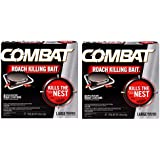 Combat Bait Stations, Child-Resistant, Large Roach 8 Stations 0.49 oz (14 g) - 2 Pack