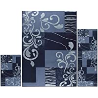 Home Dynamix HD1879-309 3S-HD1879-309 Area Rugs, Blue/Dark Blue Swirl