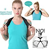 Back Posture Corrector for Men and Women | Discreet Under Clothes Clavicle Brace Corrective Shoulder Support Strap Forward Neck Upper Clavical Straightener Best Correct Cervical Collar (Model 3)