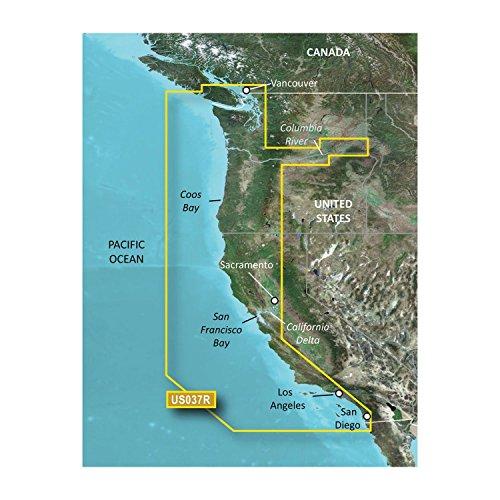 Garmin BlueChart g2 Vision Vancouver/San Diego Saltwater Map microSD Card by Garmin