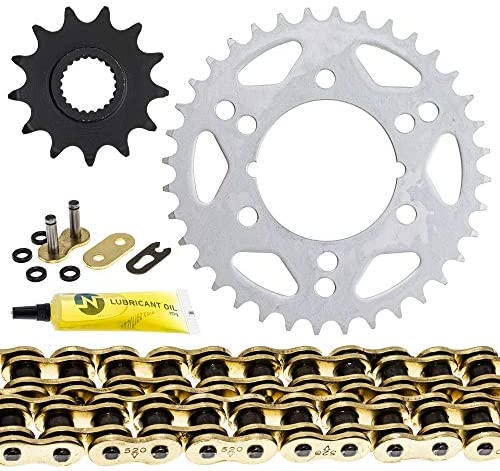 NICHE Drive Sprocket Chain Combo for Polaris Scrambler 500 Trail Blazer 400 Front 13 Rear 36 Tooth 520 X-Ring 76 Links