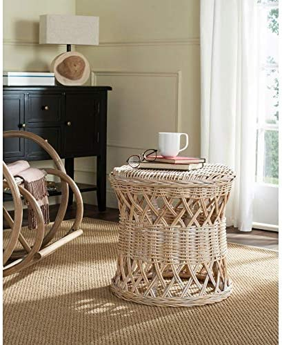Safavieh Home Collection Desta Natural Wicker Round Accent Table