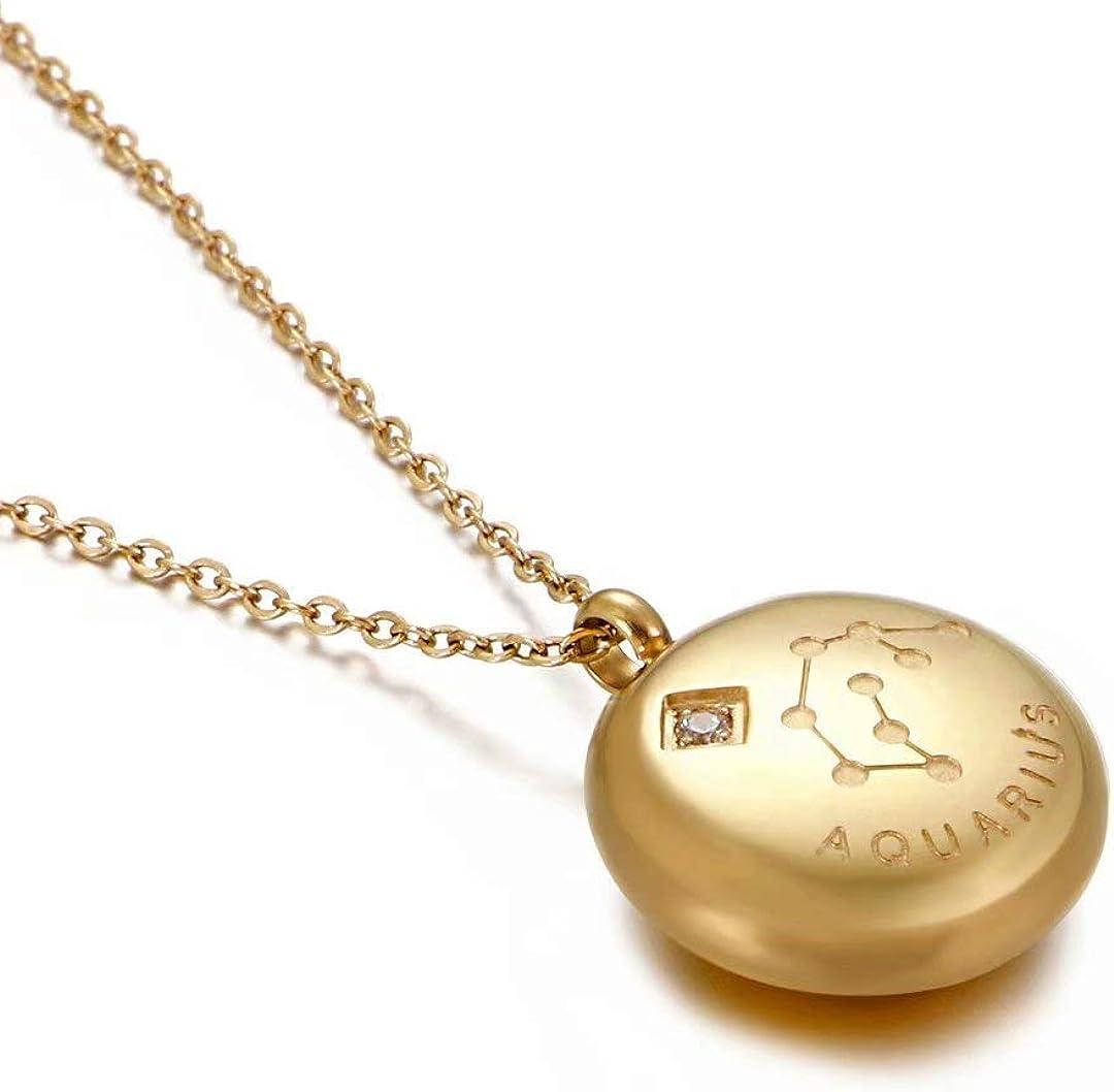 Gold Filled Zodiac Constellation Necklace Aquarius Celestial Jewelry Best Friend Girlfriend Valentines Day Gift For Women Sagittarius