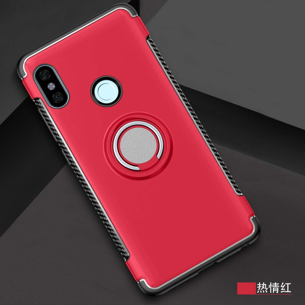 Xiaomi Redmi Note 5 Case DWaybox Hybrid Back Case with 360 Degree Rotation Ring Holder for Xiaomi Redmi Note 5 Pro//Redmi Note 5 5.99 Inch Compatible with Magnetic Car Mount Holder Gold