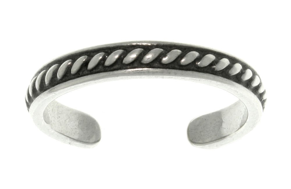 Jewelry Trends Thin Bead Pattern Sterling Silver Toe Ring Adjustable-Size by Jewelry Trends
