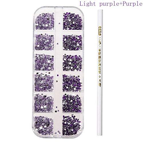 tion - 3D Round Glitter Rhinestone Bead Wax Picker Pencil Diamant Gems Manicure Nail - 05# - 1 X Nail Art Round Glitter Rhinestone 1 X Wax Picker Pencil No ()